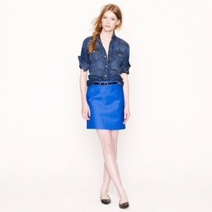 J. Crew Classic Mini Skirt Double Serge Cotton